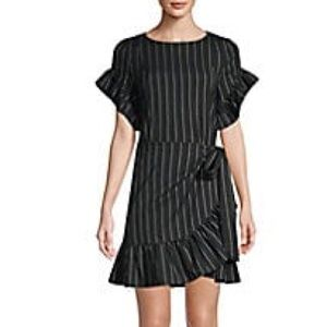 Supply & Demand Striped Ruffle Dress Size Large